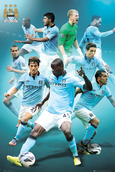 Manchester City - players 12/13 Plakát