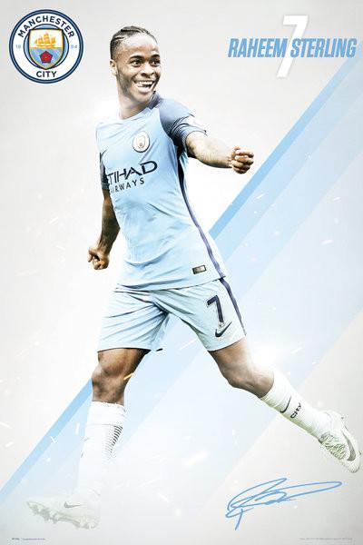 Manchester City - Sterling 16/17 Plakát
