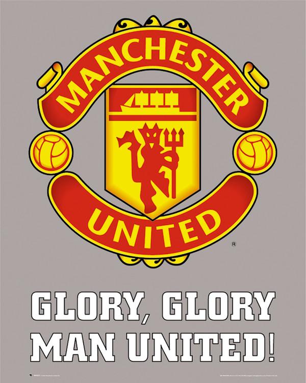 Manchester United - club crest Plakát