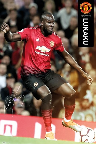Manchester United - Lukaku 18-19 Plakát