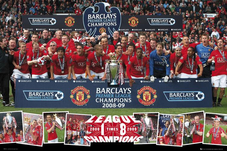 Manchester United - pl champions 09 Plakát