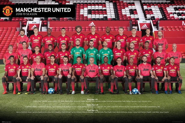 Manchester United - Players 18-19 Plakát