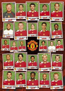 Manchester United - sqad profile Plakát