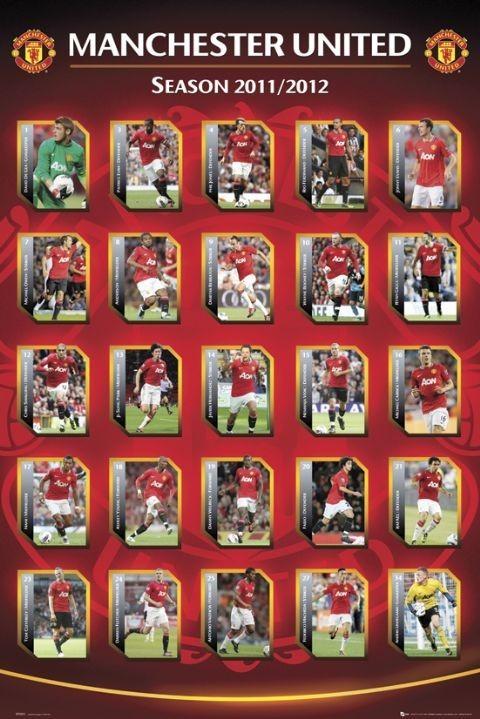 Manchester United - squad Plakát