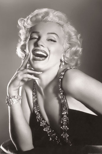 MARILYN MONROE - laughing Plakát