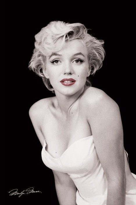 Marilyn Monroe - red lips Plakát