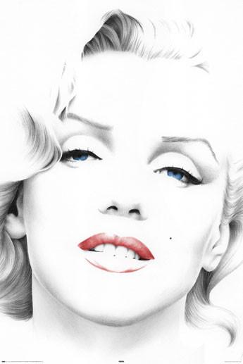 MARILYN MONROE - sketch Plakát