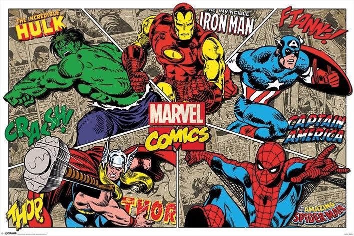 Marvel Comics - Character Burst Plakát