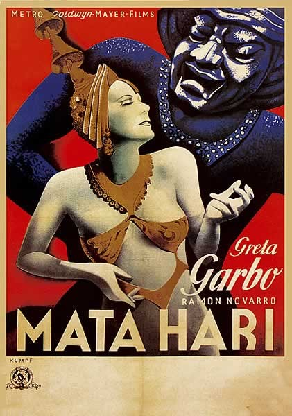 MATA HARI - Greta Garbo Plakát