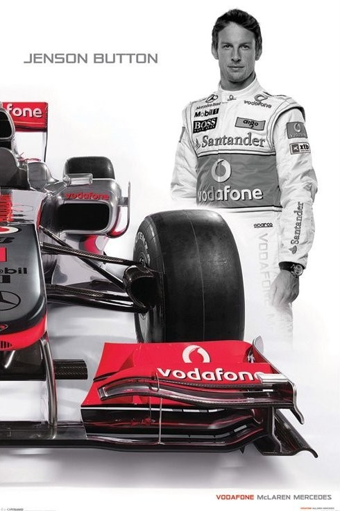 McLaren Double - button Plakát