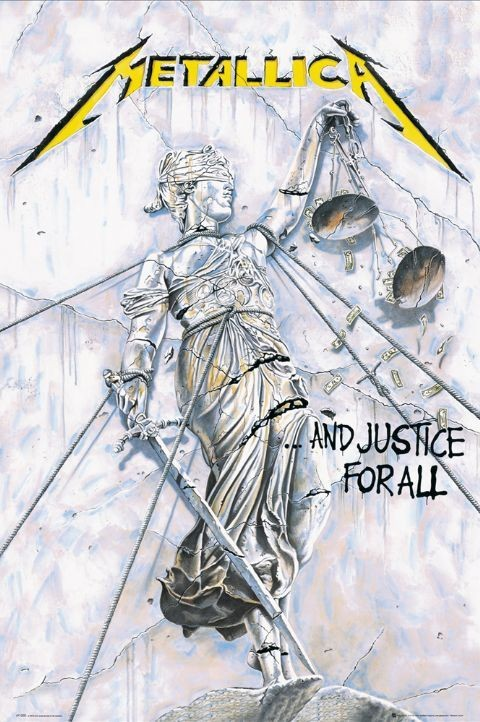 Metallica - justice for all plakát