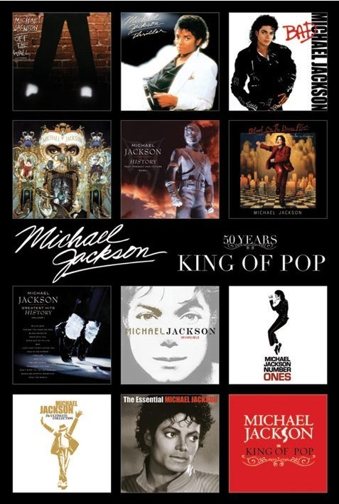 Michael Jackson - album covers plakát