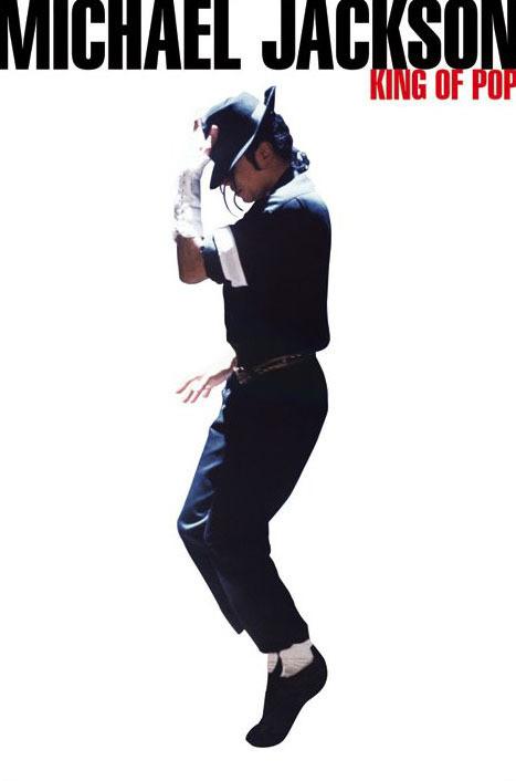 Michael Jackson - king of pop Plakát