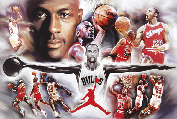 wyprzedaż Zjednoczone Królestwo najlepsza moda Michael Jordan - collage Plakátok, Poszterek az Europoszters.hu