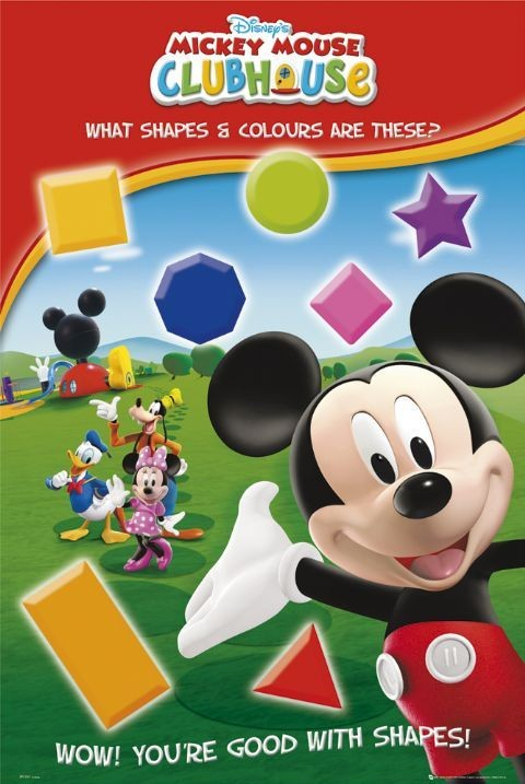 MICKEY MOUSE - shapes Plakát