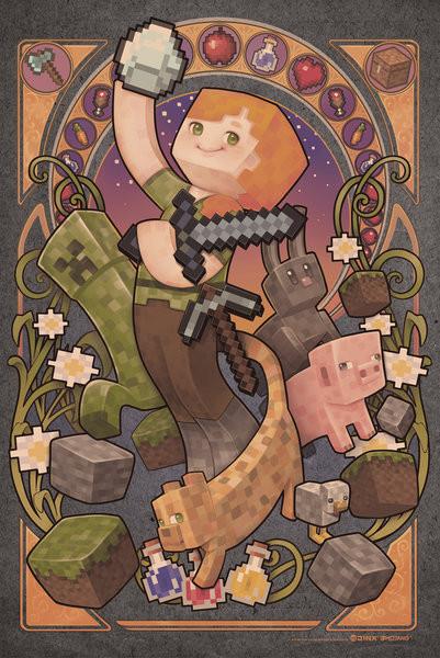 Minecraft - Sword Plakát