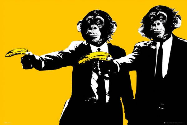 Monkeys - bananas Plakát
