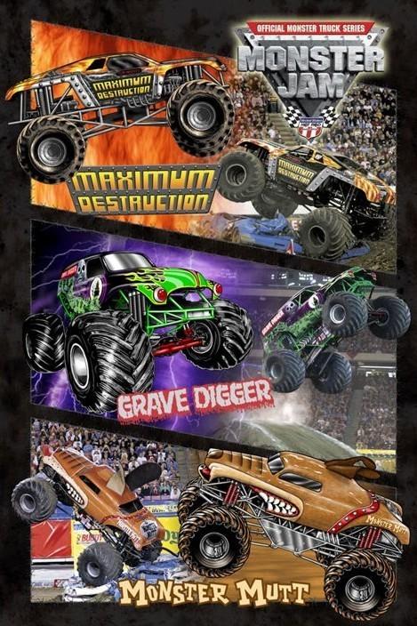 Monster jam - montage Plakát