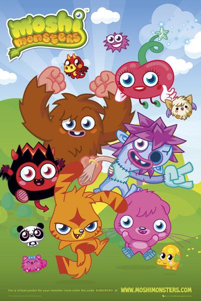 Moshi monsters - group  Plakát