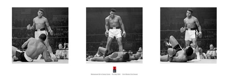 Muhammad Ali vs. Sonny Liston - triptych Plakát