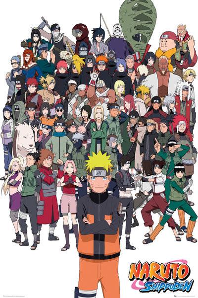 Naruto Shippuden - Group Plakát