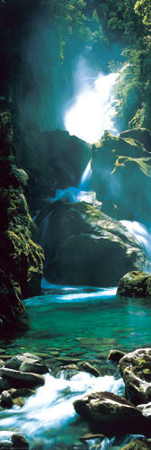 New Zealand - waterfall plakát