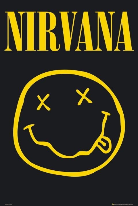 Nirvana – smiley Plakát
