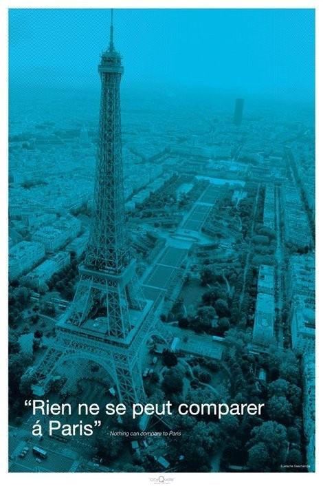 Párizs - city quote Plakát