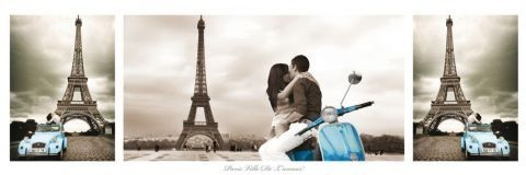 Párizs - triptych Plakát