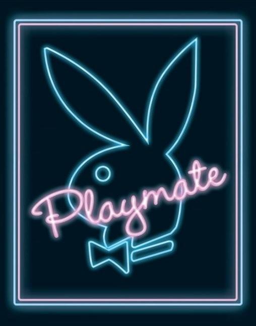 Playboy - playmate neon Plakát