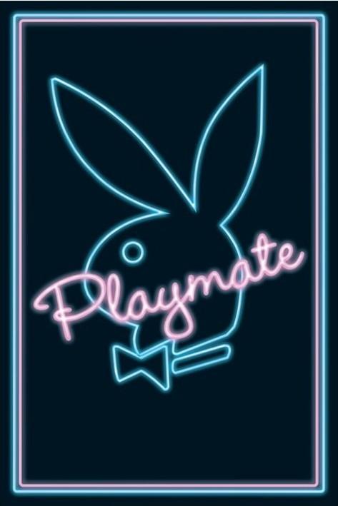 Playmate - neon Plakát