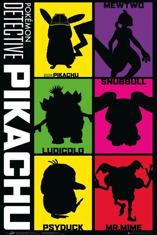 Pokemon: Pikachu, a detektív - Silhouette Plakát