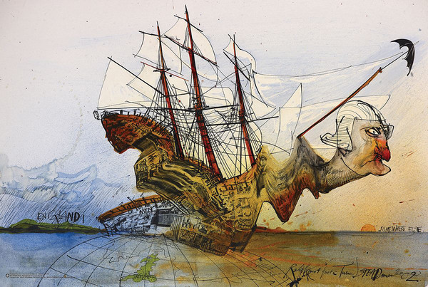 Raplh Steadman - Curse of Lono Plakát