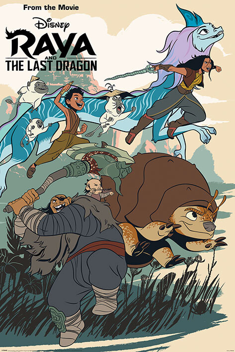 Plakát Raya and the Last Dragon - Jumping into Action