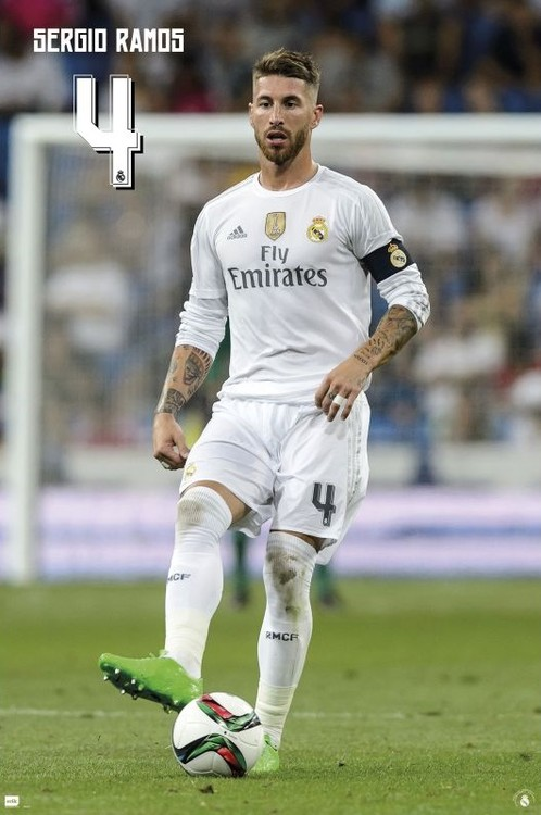 Real Madrid 2015/2016 - Sergio Ramos accion Plakát