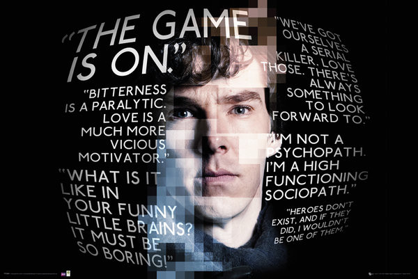 Sherlock - Sherlock Quotes Plakát