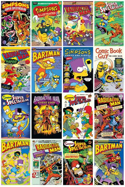 SIMPSONS - Comic Covers Plakát