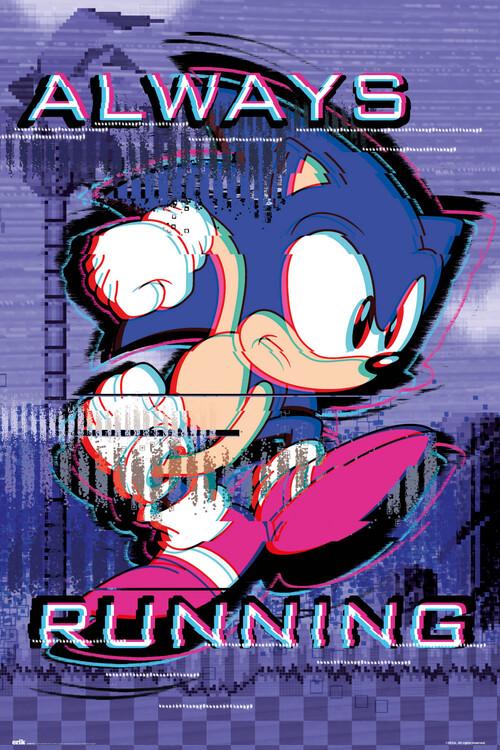 Plakát Sonic the Hedgehog - Always Runnig