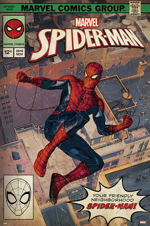 Spider-Man - Comic Front Plakát