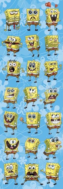 Spongebob - expressions Plakát