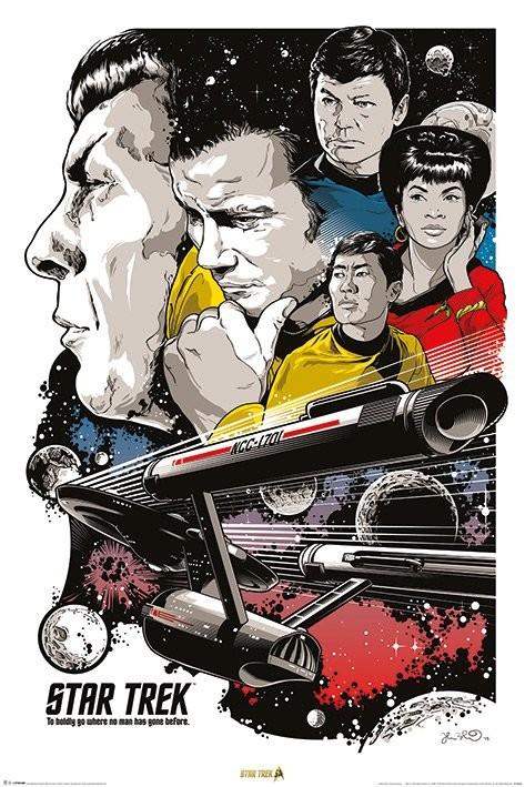 Star Trek - Boldly Go  50th Anniversary Plakát