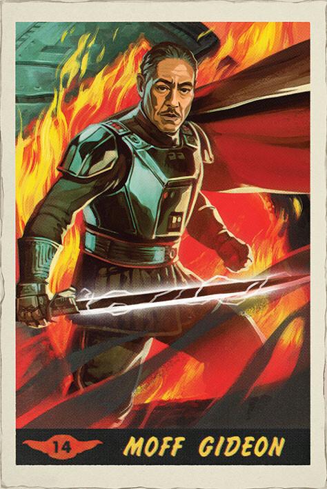 Star Wars: The Mandalorian - Moff Gideon Card Plakát