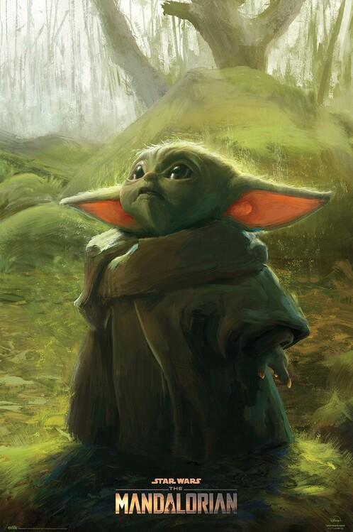 Plakát Star Wars: The Mandalorian - The Child Art
