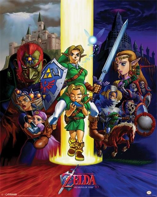 The Legend Of Zelda - Ocarina Of Time Plakát
