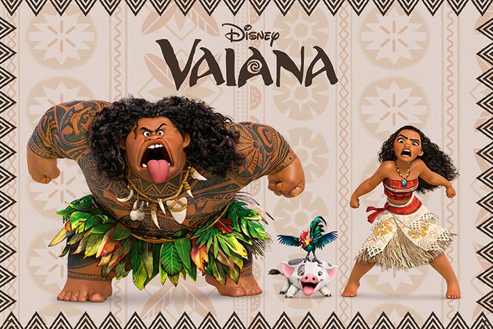 Vaiana - Characters Plakát