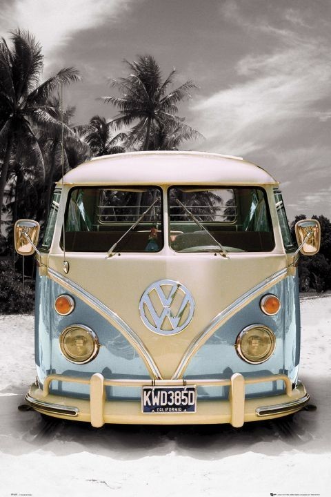 VW California camper Plakát
