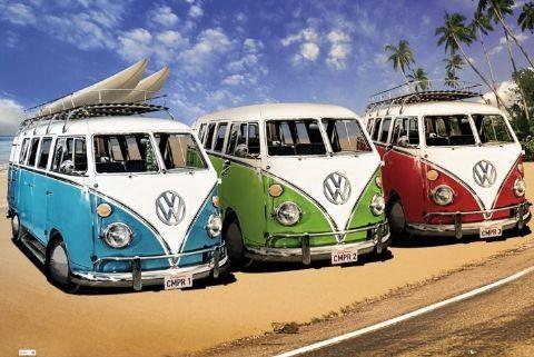 VW Volkswagen Californian - camper Plakát