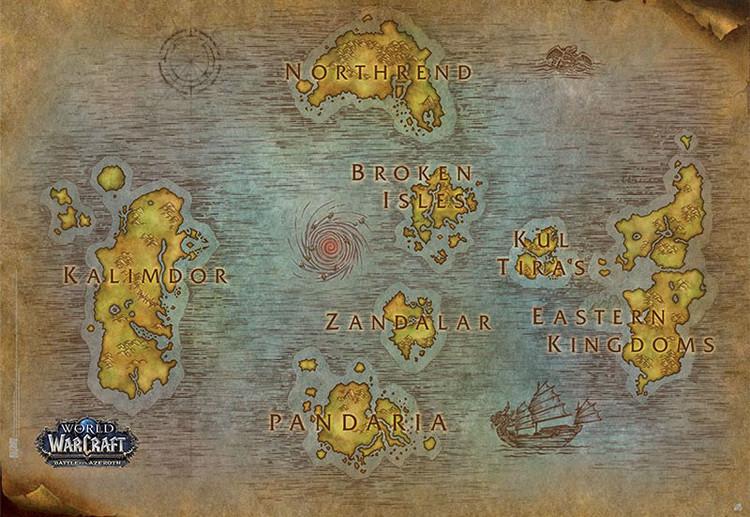 World Of Warcraft - Map Plakát
