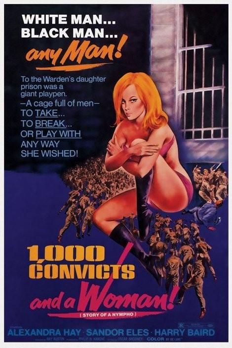 Plakát 1000 CONVICTS AND A WOMAN - 1000 odsouzených a žena