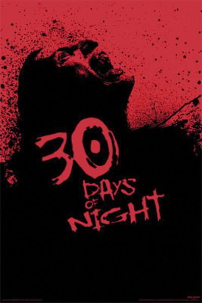 Plakát 30 DNÍ DLOUHÁ NOC - screaming zombie